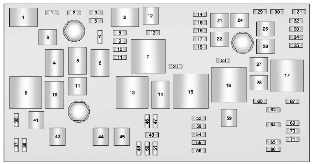 Buick Lacrosse 2011 2012 Fuse Box Diagram Auto Genius