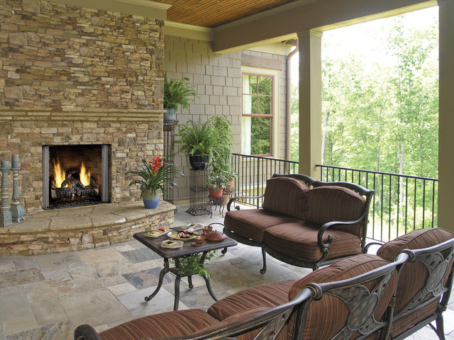 Outdoor Fireplace - Traditional - Patio - dallas - by ...