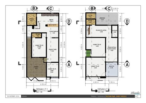 denah rumah ukuran 7x10 | desain rumah minimalis