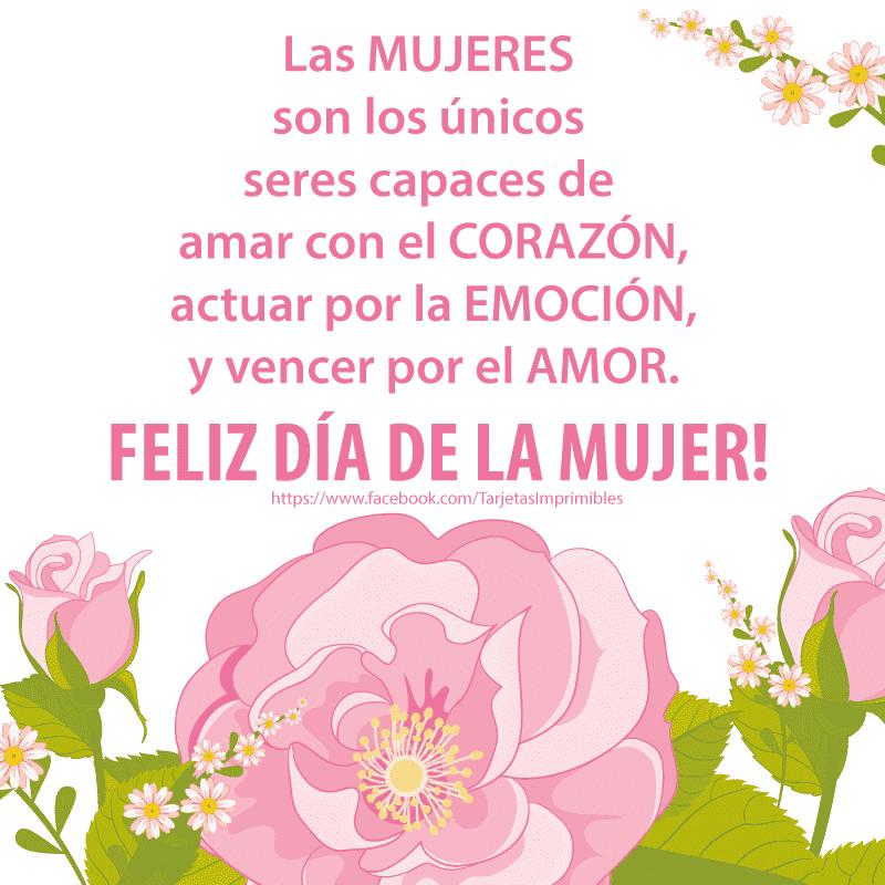 Feliz Dia De La Mujer Frases Y Mensajes Mujeres Femeninas