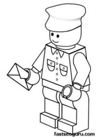 free printable lego postman coloring pages for boy