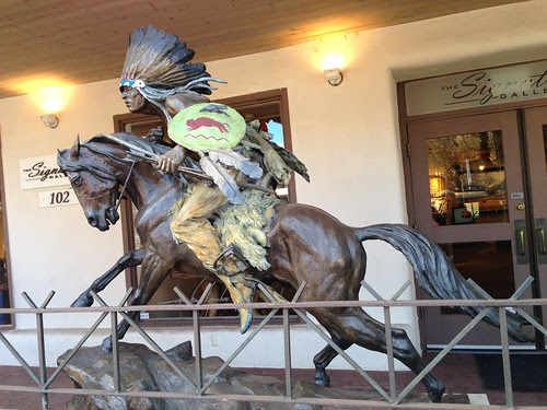 An outdoor sculpture, Santa Fe
