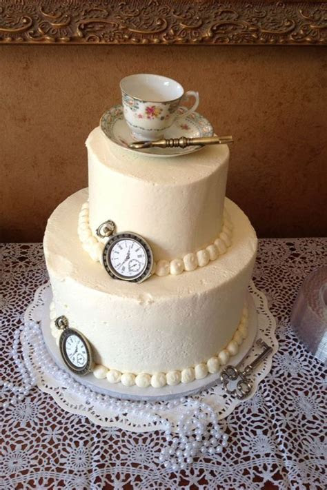 Mad hatter tea party bridal shower cake LOVE THIS ! If I