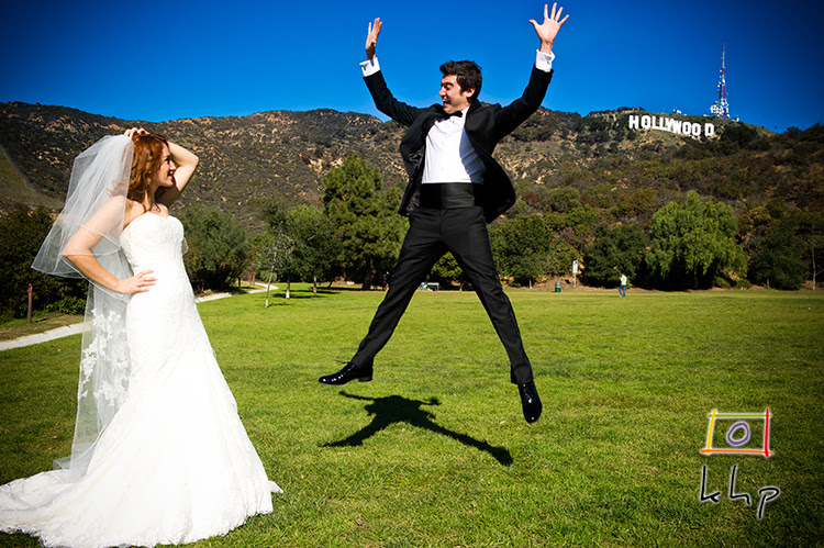 Another photograph of the couple at The Lake Hollywood Park