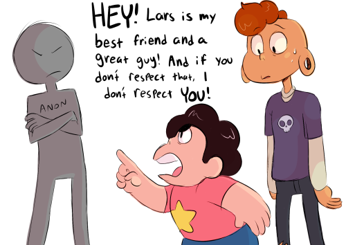Anonymous said: please explain WHY would ANYONE fuse with lars? he's a useless lump on a log Answer: How does it feel to not be respected by the most pure of childs??? Don't mess with bros