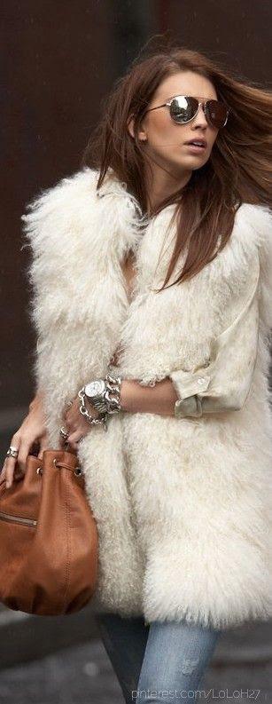 Mongolian fur vest