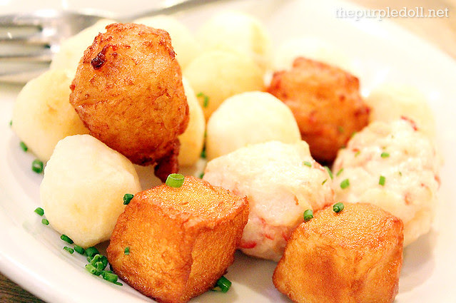 Street Balls of Fish, Crab and Lobster with a Trio of Sawsawans (Medium P255)