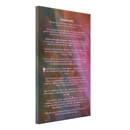 Desiderata Poem - Pillars of Dust, Orion Nebula Stretched Canvas Print