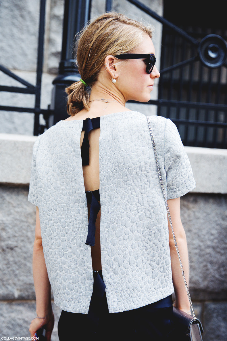 New_York_Fashion_Week_Spring_Summer_15-NYFW-Street_Style-Jessica_Minkoff-Open_Back-Pearl_Earring-