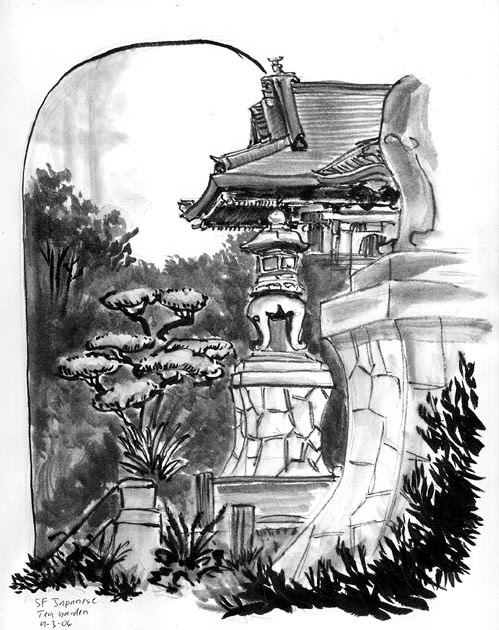 paper dragon press japanese tea garden sf