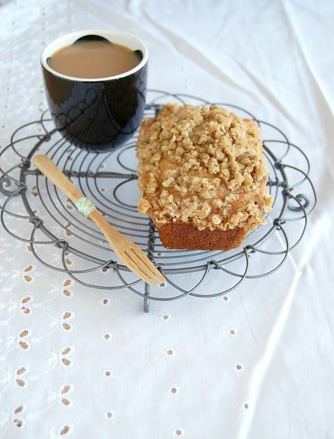 Banana streusel muffins / Muffins de banana com cobertura streusel