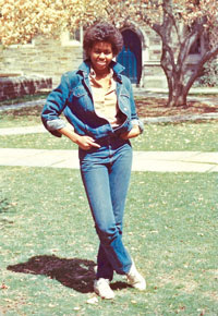 photo of Obama in the Pyne Hall courtyard