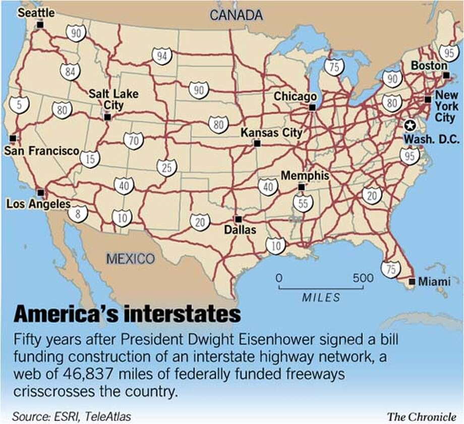 Us Interstate System Map Pdf
