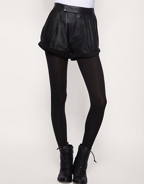 Image 4 ofOne Teaspoon Cuffed Leather Shorts