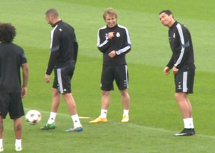 Cristiano Ronaldo treino Real Madrid (Foto: Cassio Barco)