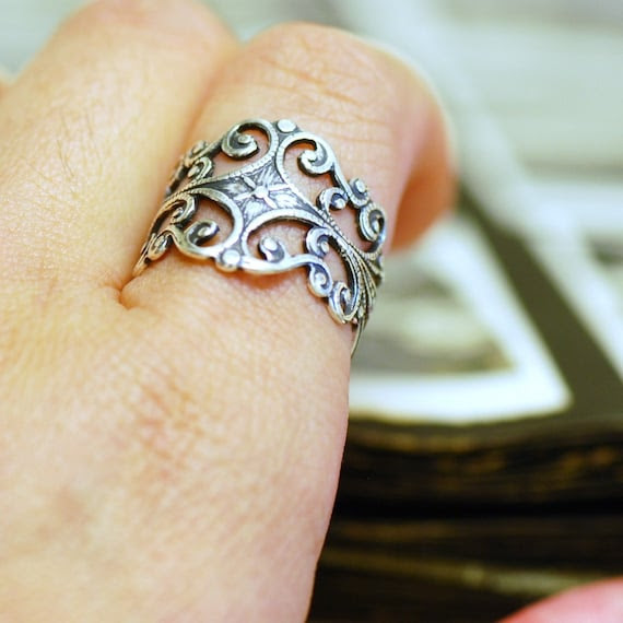 Arwen Ring - Made in USA sterling silver plated brass