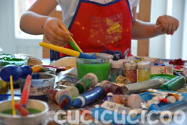 festa per bambini pittura brillantini