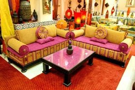 Le monde de l 39 artisanat le salon marocain for Salon n 6 orleans
