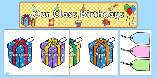 Editable Birthday Display Set (Presents) - Birthday set