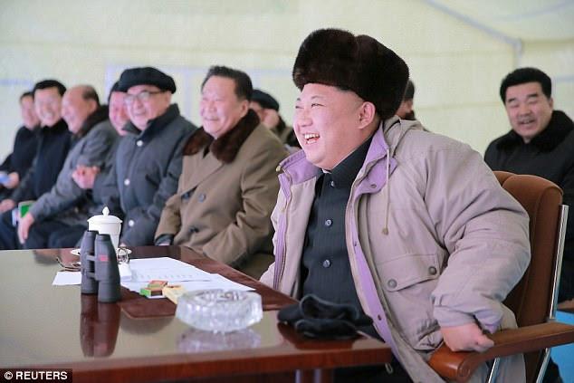North Korean leader Kim Jong Un watches the Masikryong ski competition last year