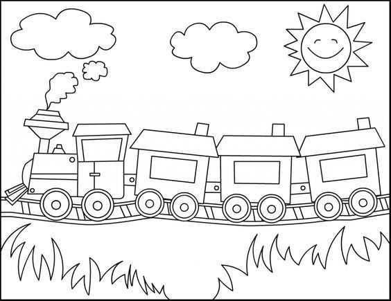 Tren Boyama Sayfasi 2 Okul öncesi Etkinlik Faliyetleri