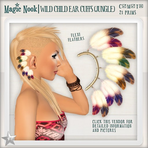 [MAGIC NOOK] Wild Child Ear Cuffs (Jungle)