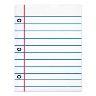 Notebook Paper Flyers & Programs | Zazzle