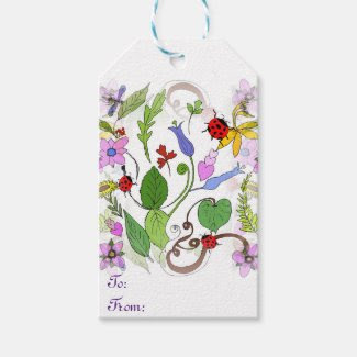 Floral Designed Gift Tags