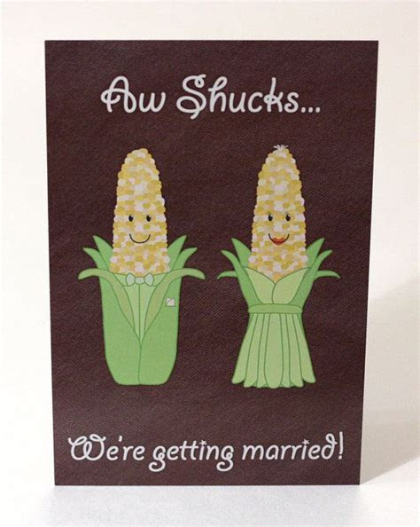 Aw Shucks! Corny Wedding Invitation   Postcard Style, Corn