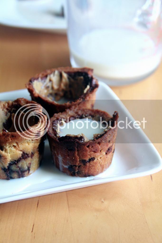 dessert - milk and chocolate chip cookies
