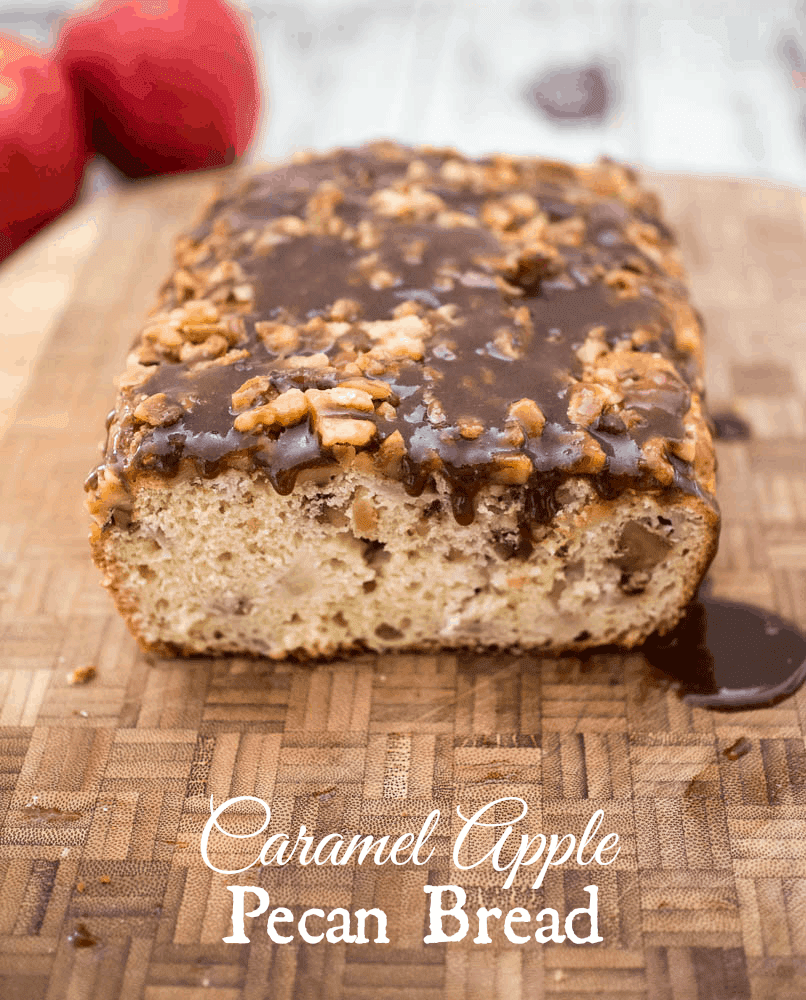 Caramel Apple Pecan Bread - A tasty quick bread for the holidays