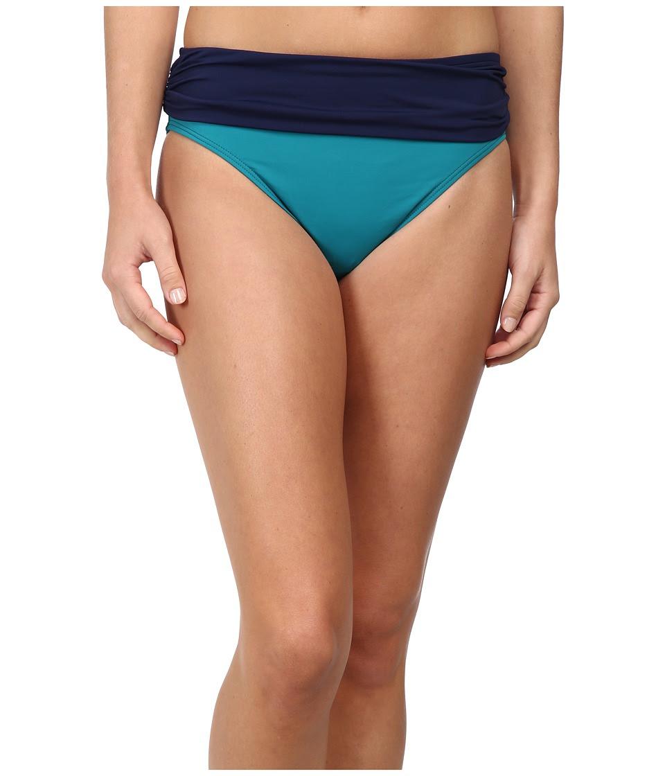 Tommy Bahama - Deck Piping High Waist Sash (Azurite\/Mare) Women's Swimwear