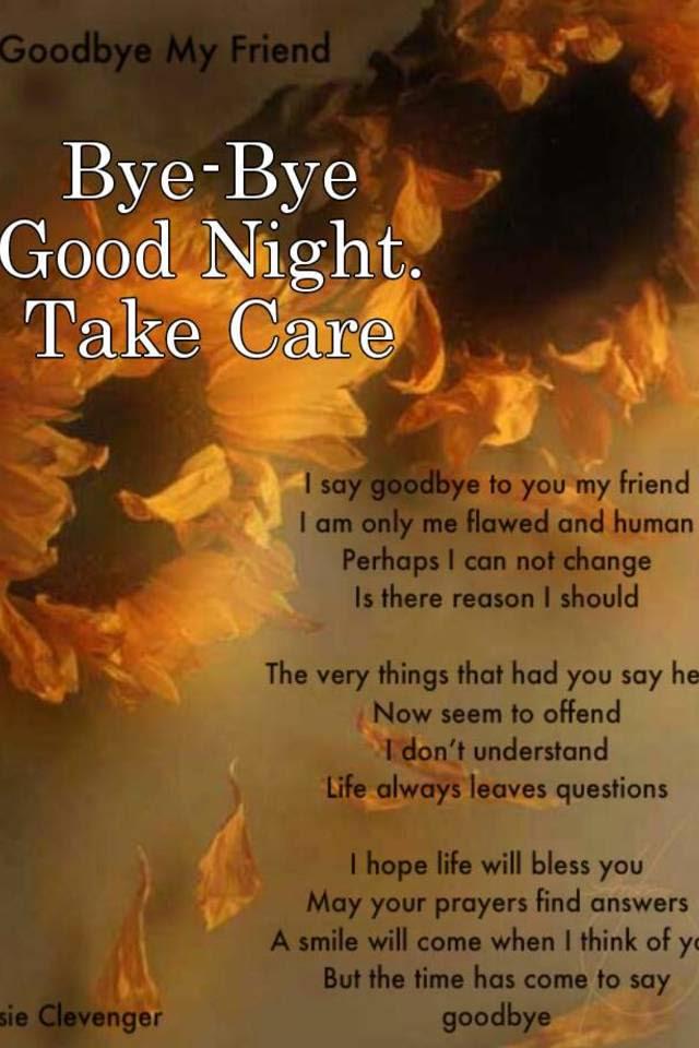 Bye Bye Good Night Take Care