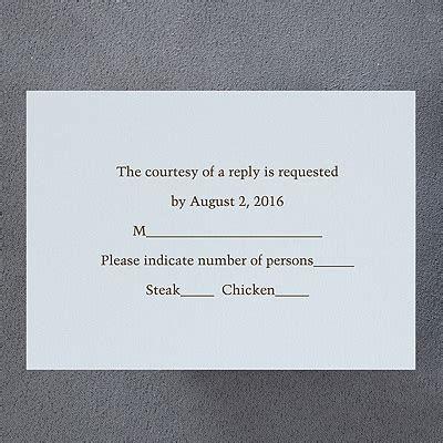 Respond Card and Envelope   Water   Carlson Craft Wedding
