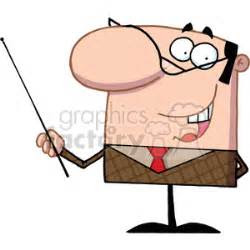 cartoon character business man holding  pointer stick
