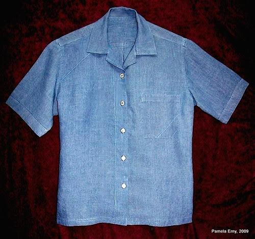 """""""Distressed"""" Linen Shirt"""