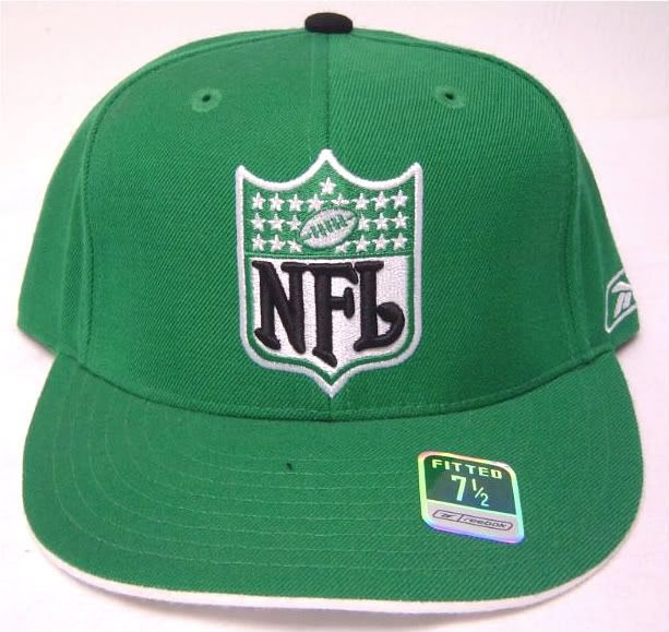 NEW Green Reebok NFL on Field Fitted Cap W/ NFL 3D Logo  eBay