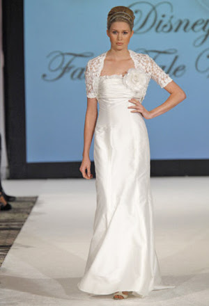 SheathWeddingDress3 Designer Kirstie Kelly for Disney