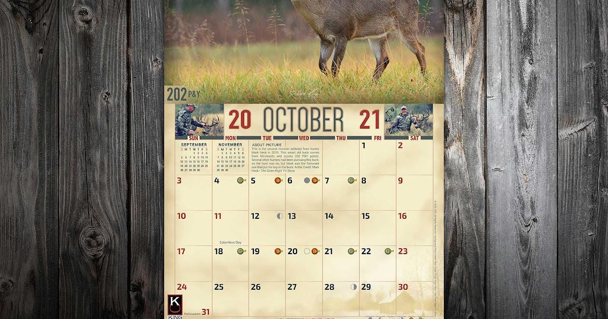 2022 Rut Calendar.Deer Rut Calendar 2021 2022 Calendar
