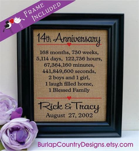 14th anniversary Gift to Wife Anniversary Gift to Husband