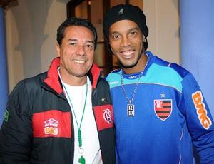 Luxemburgo e Ronaldinho Gaúcho no treino do Flamengo (Foto: Alexandre Vidal / Fla Imagem)