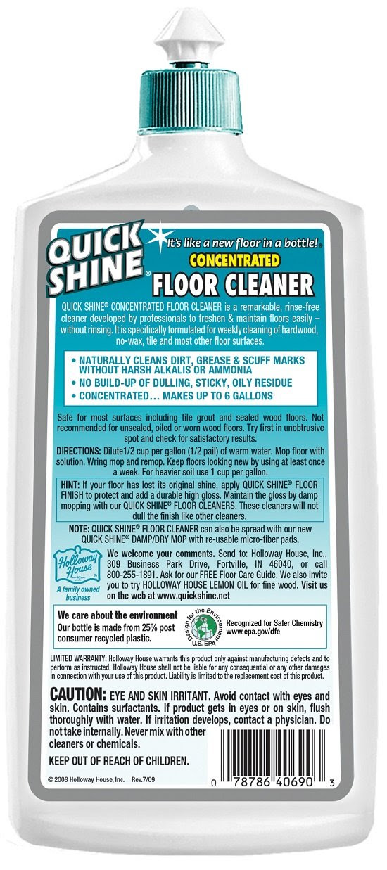 Amazon.com - Quick Shine Concentrated Floor Cleaner - Floor ...