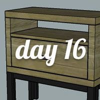 DIY Nightstand Day 16