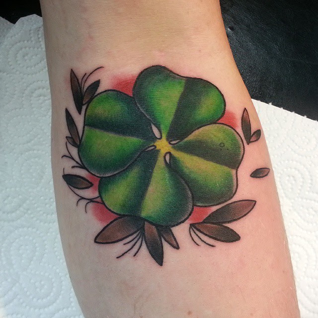 70 Best Four Leaf Clover Tattoo Ideas And Designs Lucky Plant 2018