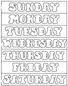 Days of the Week Printables | Tot School | Pinterest | The o