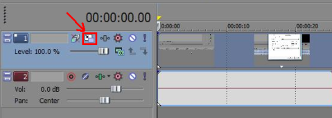Sony Vegas Track Motion Crop Video