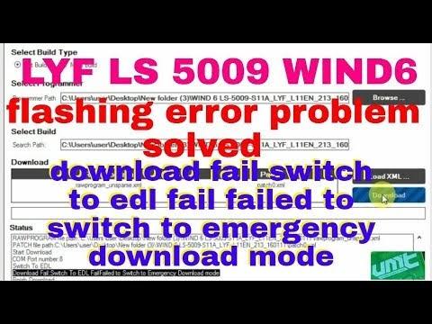 SEELAM PRASAD CELLPOINT: LYF LS 5009 WIND6 flashing error