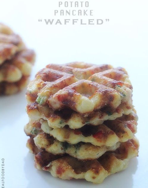 Potato Pancakes Cooked In Waffle Iron Content In A Cottage