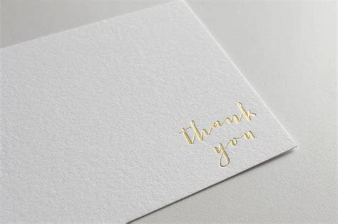 Gold Foil Thank You Cards, Letterpress Thank You Cards