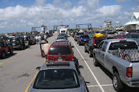 Full lot at the Hatteras Ferry Dock